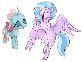 Ocellus And Silverstream by Jennilah
