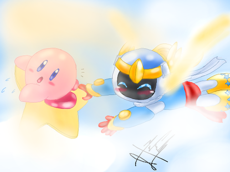 Kirby and Jupiter by SailorBomber