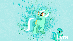 Lyra Ink Splatter Wallpaper by alanfernandoflores01