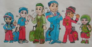 Thomas and Friends Humanized (1-6) by PilloTheStar