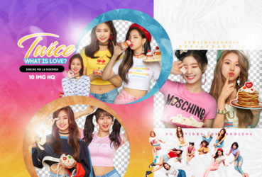 TWICE PNG PACK #9/WHAT IS LOVE? by Upwishcolorssx