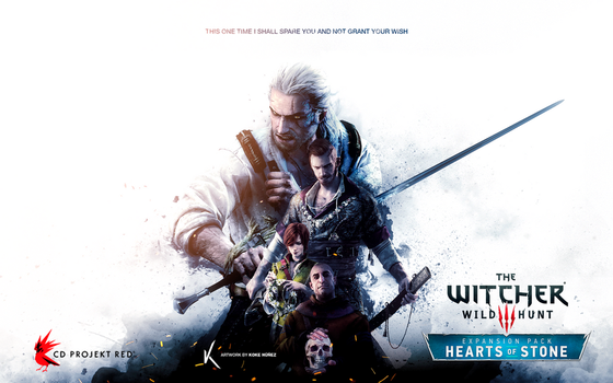 The Witcher: Wild Hunt - Hearts of Stone Fanposter by KokeNunezWorks