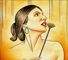 Painting a Woman Painter by BenHeine