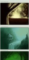 4 concept Speedpaintings by zevenstorms
