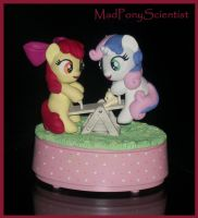 Apple Bloom N Sweetie Belle Musical Teeter Totter  by MadPonyScientist