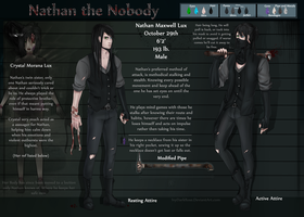 Creepypasta: Nathan the Nobody NEW Ref sheet by IvyDarkRose