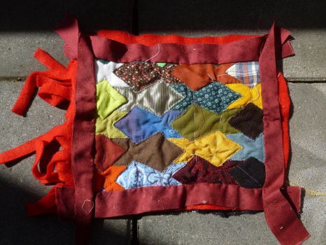 Fish English paper piercing quilt WIP by BellaGBear