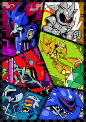 Metal Sonic Mania by Shenaniganza