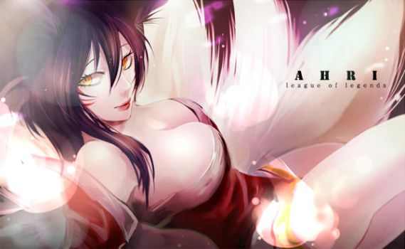 leagueoflegends-Ahri by 9ooo