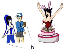 How did she fit in that cake? by Ifrit9