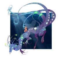 [closed set price] Aquatic Monster Design by Pepperoonie