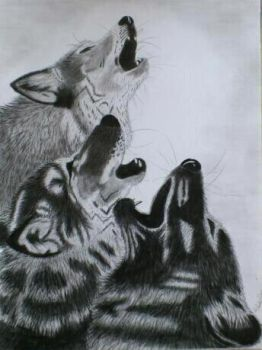 Three Howling Wolves by Rutger1990