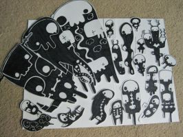 Ghost blobs, and totem Skulls' by Xombiegrinn