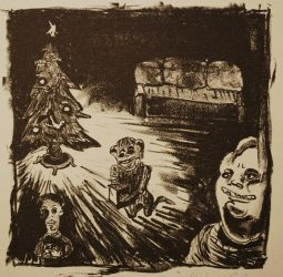 Xmas Lithograph by misfitoy