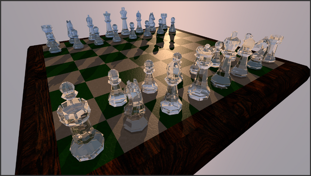 Crystal Chess Pieces by marilu597