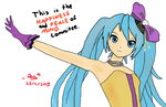 Disappointment Art #3~Hatsune Miku (Happiness) by DisappointmentRao