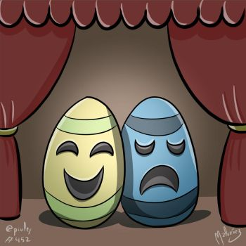Easter Egg and World Theater Day by zeravlam