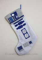 R2D2 Christmas Stocking by bicyclegasoline