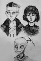 Realistic characters from Invader Zim by thelonelyromantic