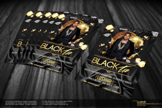 Black Tie Party Flyer - Back by Gallistero