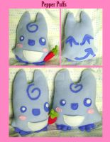 Winky Pepper Puff Plushies by fuish