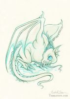 Baby Mighty Sea Wyvern by HeatherHitchman