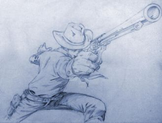 Tex Willer - Sketch by Itamar Nunes02 by itamarnunes