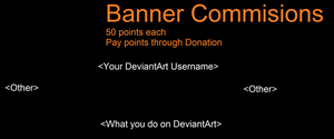 General Banner Commision format by TopazstarAnimations