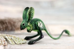 Green jerboa by hontor
