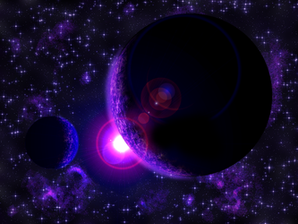Purple Planets by Pythang