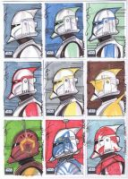 SW Galaxy 6 10 Sketch cards by Hodges-Art