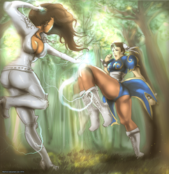 Age of Loggen Vs Streetfighter: Kiki VS Chun Li by Kiki4rich