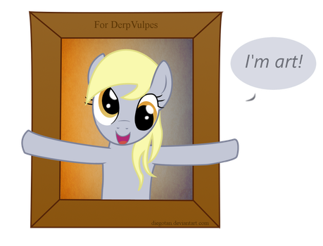 Derpy Hooves - I'm Art - For DerpVulpes by DiegoTan
