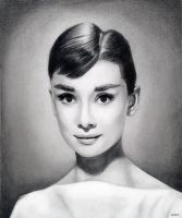Audrey Hepburn by MLS-art
