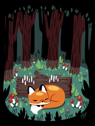 Resting Place for a Sleepy Fox by knitetgantt