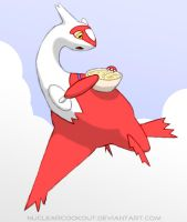 Latias Orders Pasta by NuclearCookout