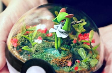 Poke Ball Terrarium CLose Up - Kirlia Garden by TheVintageRealm