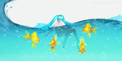 When the Ocean Begins (+Speedpaint) by TheCecile