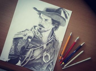 Santiago Cabrera / Aramis - The Musketeers by emicathe