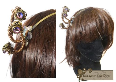 Steampunk Medusa Headband by Rouages-et-Creations