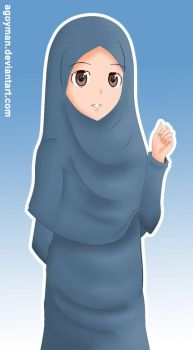 Blue Hijab by Agoyman