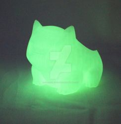 Glow in the Dark 3d Printed Bulbasaur Planter by zaraiscreations