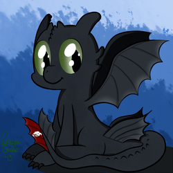 Toothless Pony by DreamSnake