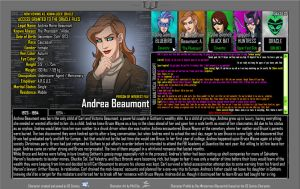Oracle Files - Andrea Beaumont by Roysovitch