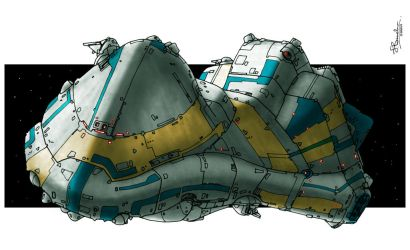 Ship Concept #2 - redux by JerryBoucher