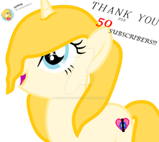 50 subscribers on YouTube!! by PinkiePotterHarryPie