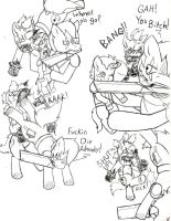 Fallout Ponies-Raider and Kid12 by Demon-Keychain