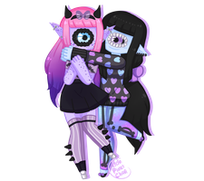 [c] - kawaii-antagonist [xynthii Couple] by hello-planet-chan
