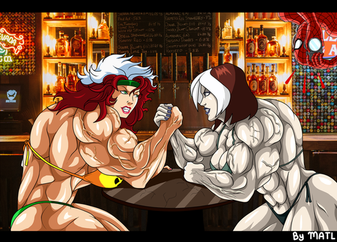 Commission - Rogue (90s) vs Rogue (evolution) by MATL