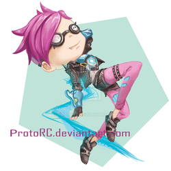 [Overwatch] Tracer (commissoin) by ProtoRC